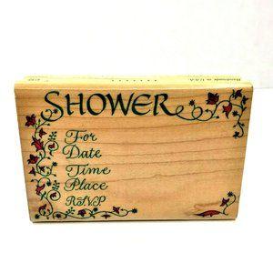 Inkadinkado Shower Invitation Crafting Stamp